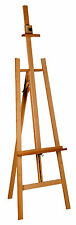 BEECH WOOD STUDIO EASEL 6ft (1720-2590 MM HIGH) ARTIST ART CRAFT DISPLAY Wooden