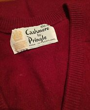 Vintage Pringle Cashmere sweater men's Scotland burgundy 40