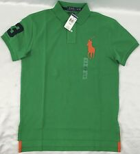 Ralph Lauren Men's Custom Fit Polo Shirt Number 3 New w/ Tags Green Size M