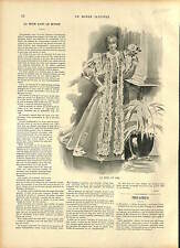 COSTUME ROBE MODE FEMME FRANCE JANVIER 1896 19 XIX SIÈCLE 1896