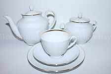 Russian Imperial Lomonosov Porcelain Tea set service Snow White 6/20 person Rare