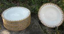 12 assiettes anciennes creuses porcelaine de Limoges très bon état