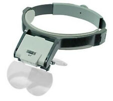 Illuminated Multi-Power Adjustable Head Magnifier Magnifying Glass Lighted