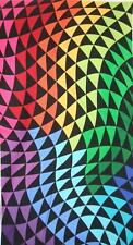 Colorworks Concepts Rainbow Triangle Wave Northcott Fabric Remnant 1/2 Panel