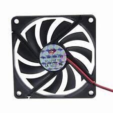 LY 80mm 8cm 80x80x10mm DC 12V 2pin Brushless PC Computer Cooler Cooling IDE fan