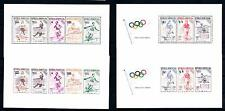 [48705] Dominican Rep. 1957 Olympic games Athletics Perf and Imperf. MNH Sheets