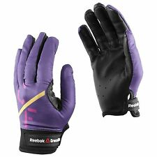 BNWT Women's Reebok Crossfit Power Lifting Gloves Leather Purple L Large
