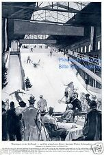 Indoor Skiing Kunstdruck von 1928 Ski fahren in Halle Schneepalast Wien Glatz