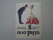 advertising Pubblicità 1960 OLIO SASSO