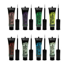 PaintGlow Glitter Eyeliner Full Range Fluorescent Colours Festival 8 x 15ml