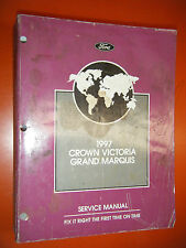 1997 FORD CROWN VICTORIA MERCURY GRAND MARQUIS FACTORY SERVICE MANUAL SHOP