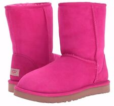 UGG Australia Classic Short RACING RED Pink US 6 UK 4.5 Eu 37 GREAT COLOR New!