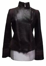 JOSEPH BROWN SHEARLING LEATHER JACKET, M, $1250