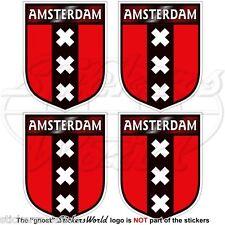 AMSTERDAM Scudo Paesi Bassi Olanda Adesivi in Vinile per Auto 50mm Stickers x4