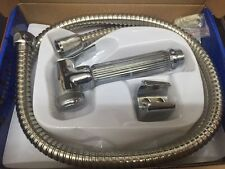 Hand Held Toilet Shower Bidet Shut-Off Handspray Kit With Fixings Shut Off Valve