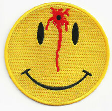 Smiley Face Bullet Hole EMBROIDERED  3 INCH MC BIKER PATCH
