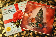 Lot of 2 Christmas Holiday Vinyl Records Firestone and Around the Christmas Tree