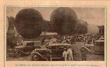 92 SAINT CLOUD DEPART RALLYE FEMININ DES SPHERIQUES BALLONS IMAGE 1928 OLD PRINT