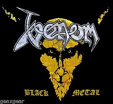 VENOM cd cvr Silver & Gold BLACK METAL Official SHIRT MED new