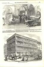 1856 nouveau fer et verre entrepôt à glasgow les nouvelles inventions