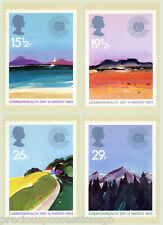 GB POSTCARDS PHQ CARDS MINT FULL SET 1983 COMMONWEALTH DAY PACK 66 10% OFF 5+
