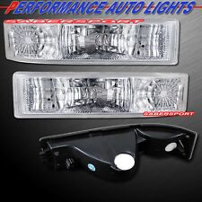 1995-2005 GMC SAFARI VAN EURO CLEAR PARK SIGNAL BUMPER LIGHTS CHROME PAIR
