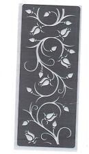 Acero Inoxidable// plantilla/Oblongo/Rosa/flor/Floral/vid/relieve/Mediano