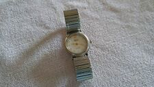 Vtg Womens WATCH expansion stretch band Dumont Quartz working? needs battery