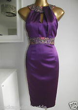 MONSOON VIDA PURPLE EMBELLISHED COCKTAIL WEDDING PARTY PROM CRUISE RACE DRESS 18