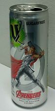 V Energy Drink Empty Tin Can Marvel Avengers Age Of Ultron THOR Theme