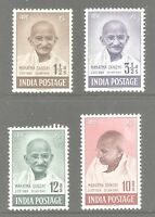 INDIA SG305-8 THE 1948 GVI GANDHI SET OF 4 MOUNTED MINT CAT £425