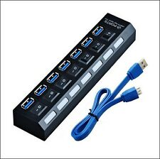 USB 3.0 HIGH SPEED 7 Port HUB 5Gbps Adapter for Tablet PC Laptop /stick /sd card