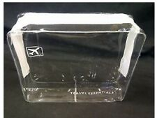 HOLIDAY TRAVEL TOILETRIES BAG - Clear Plastic Airline Airport Bag 5 x 4 x 1.5 in