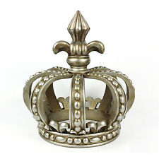 Crown Sculpture–Hand Designed- Resin- Antique Silver- Seasonal Holiday Decor