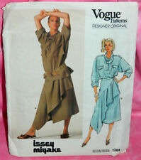 Uncut VTG Vogue Issey Miyake Sz 12 Top & Pleated Drape Wrap Skirt Pattern 1384