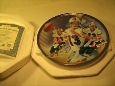 """8"""" Porcelain Collector Plate DAN MARINO Re-Writing the NFL Record Book [Z40]"""