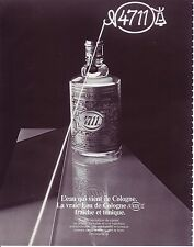 PUBLICITE ADVERTISING 034 1984 N° 4711  eau de cologne