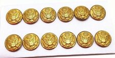 "US Army Eagle Buttons Great Seal Tunic Button 7/8""=22mm=36Ligne Lot of 12 B7359"