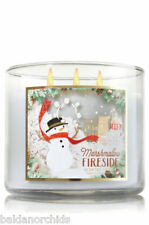 Bath & Body Works MARSHMALLOW FIRESIDE  3 Wick 14.5 oz Jar Candle NEW