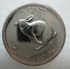 1967 CANADA 5 CENTS PROOF-LIKE COIN