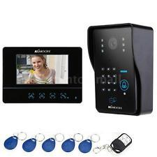 """7"""" Wired Video Door Phone Doorbell Intercom System with Touch Key/Code EU 05YK"""