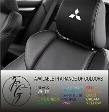 5 Mitsubishi car seat head rest decal sticker vinyl graphic logo badge free post
