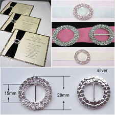 10 x  'Grade A' round double row Diamante ribbon buckle sliders (NOT SECONDS)