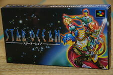 STAR OCEAN Complete Super Famicom SNES Japan SFC NTSC NEW BATTERY