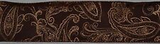 Wired Ribbon~Autumn Brown Paisley~Metallic Harvest Gold~Fall Copper~Wreath~Bow