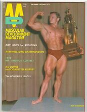 MUSCULAR DEVELOPMENT bodybuilding muscle magazine/RON THOMPSON 10-74