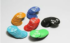 6 X Magnetic NFC Tags NTAG203 Coloured Removable Samsung Android Nokia Winows