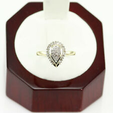 0.85 CT. DIAMOND ENGAGEMENT ANNIVERSARY PEAR SHAPE RING 14K YELLOW GOLD SIZE US6