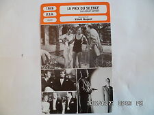 CARTE FICHE CINEMA 1949 LE PRIX DU SILENCE Alan Ladd Betty Field