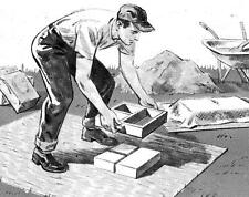 How To Make Flagstones From Molds Article Plans Cement Block Molds Plan #462